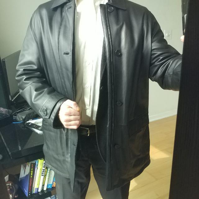Ermenegildo Zegna Leather Overcoat