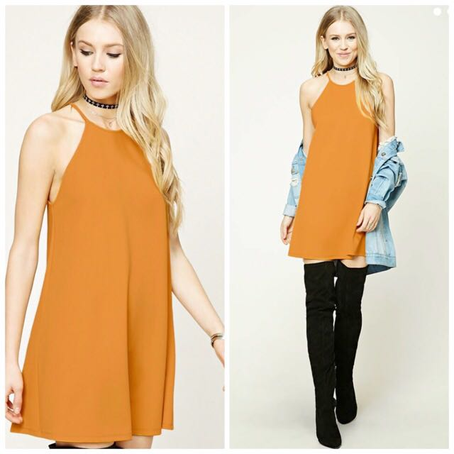 F21 Textures Swing Dress