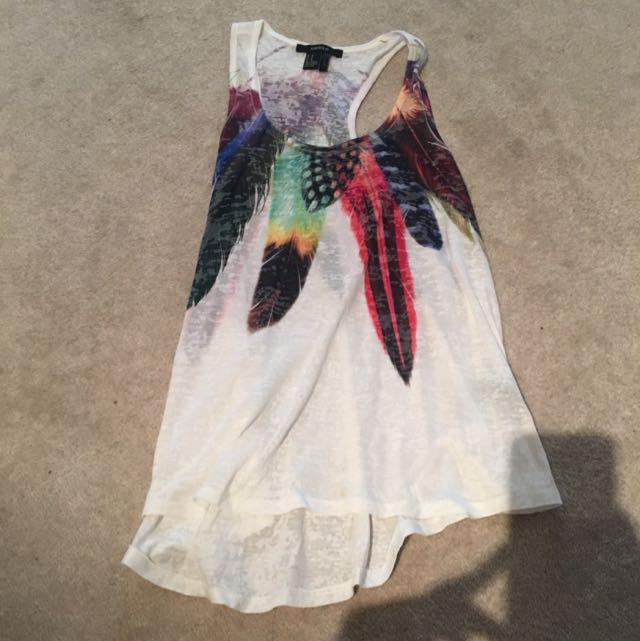 "Forever 21 ""feather"" tank top"