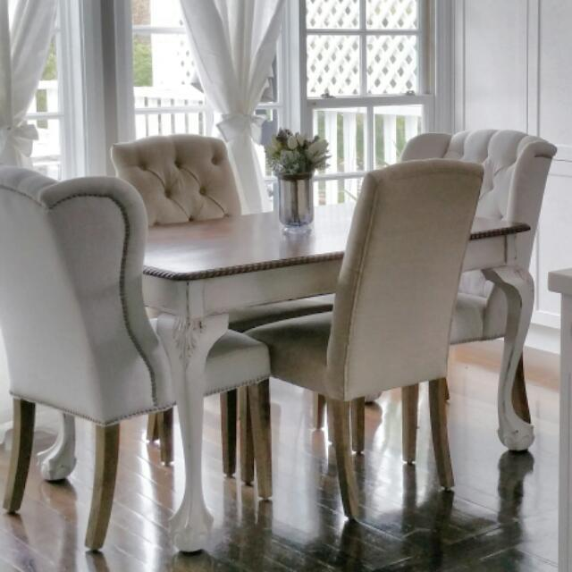 Hamptons Style Dining Table And Chairs
