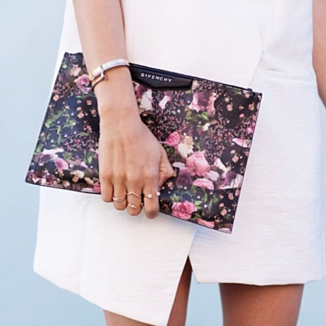 Givenchy Floral Clutch Bag