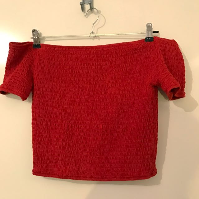 Glassons Red Off The Shoulder Tshirt