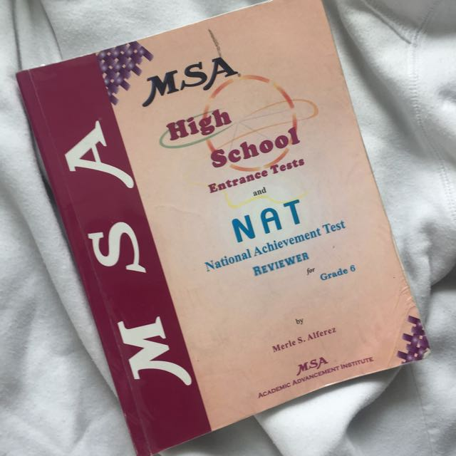 High School Entrance Tests And Nat Reviewer For Grade 6 Msa Book 1 Textbooks On Carousell