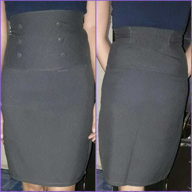 High Waist Office Skirt