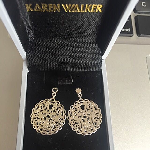 Karen Walker Filigree Rabbit Studs