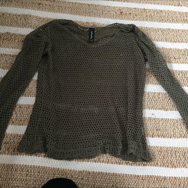 Khaki Knit Jumpet