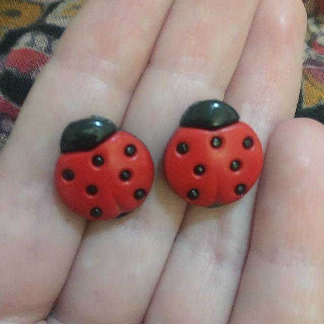 Ladybug Studs