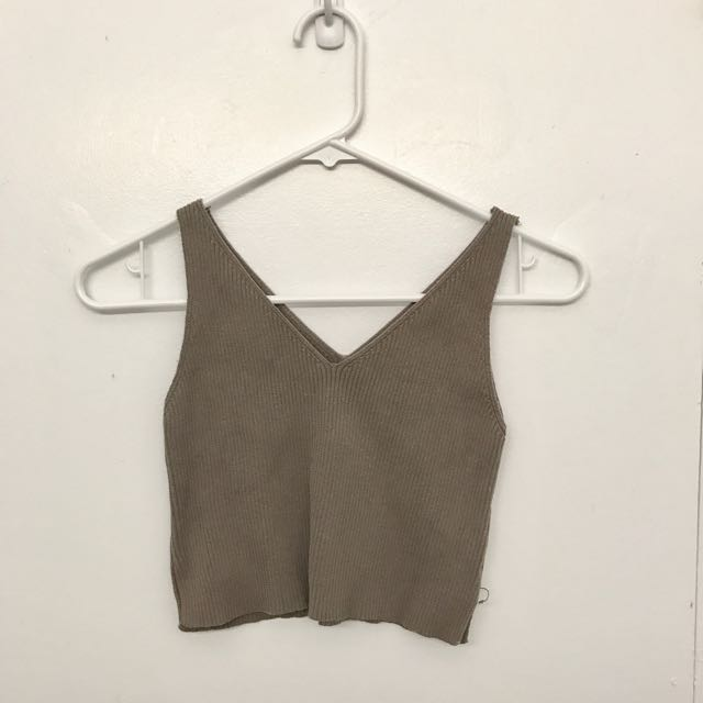 Light Brown Cropped Top (size small)