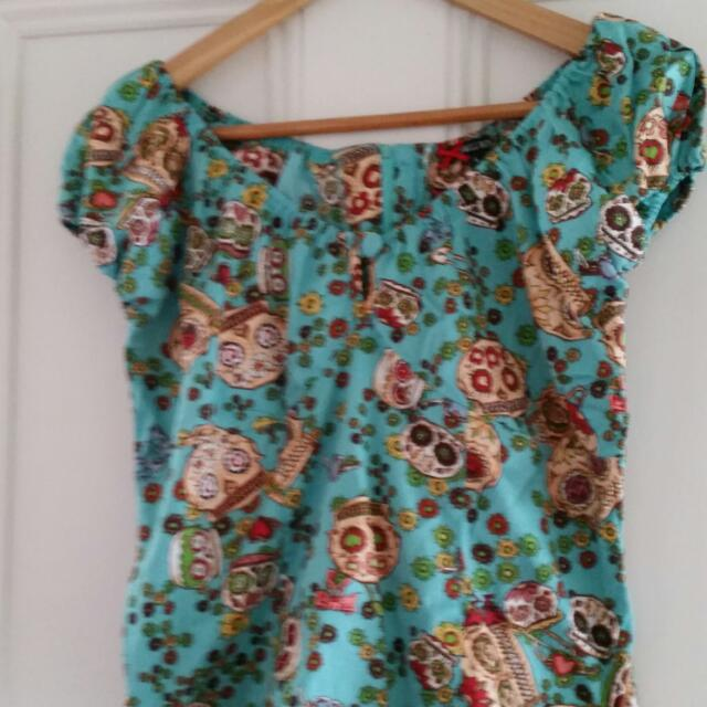 Mexican Day Of The Dead Skull Top