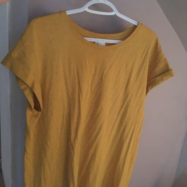 Mustard T-Shirt Dress