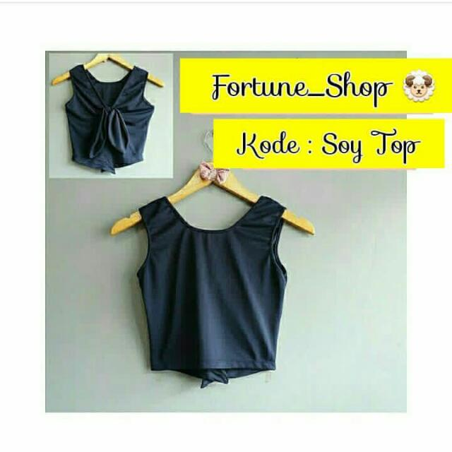 Navy Soy Top