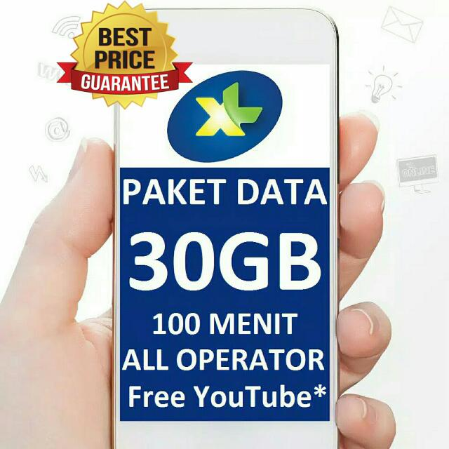 Paket Data XL Combo Xtra 30GB