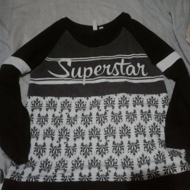 Penshoppe Cool Kid B&W Superstar  Size : S. :)
