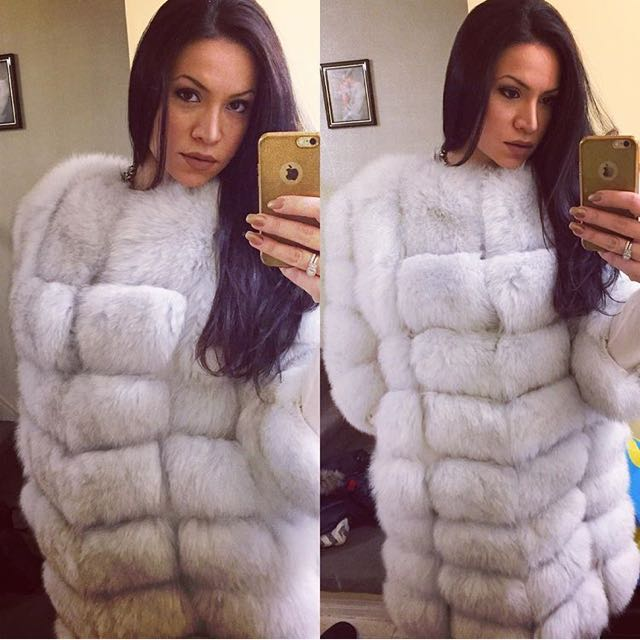 Real Arctic Fox Fur Coat
