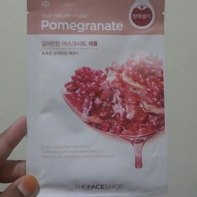 SALE Real Nature Mask Pomegranate By The Face Shop
