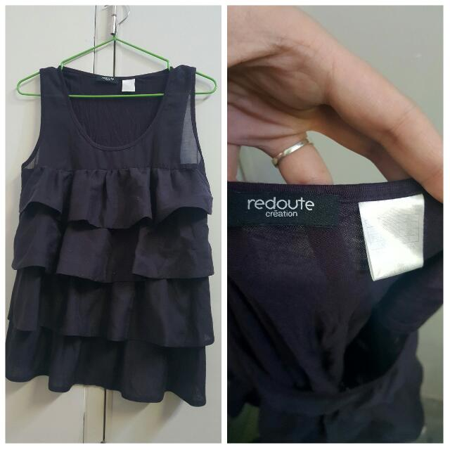 Reroute Violet Sleeveless Blouse