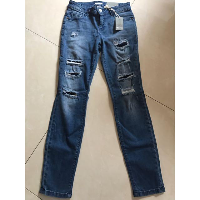 Roots 超彈性牛仔褲