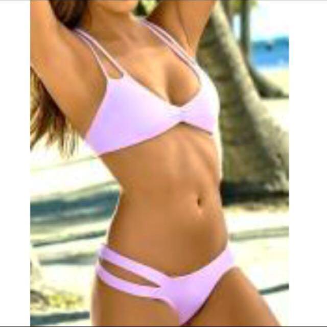 Size S - Brand New Light Purple Halter Bikini Set