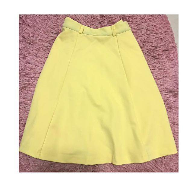Skater Skirt (Flowy Yellow Skirt)