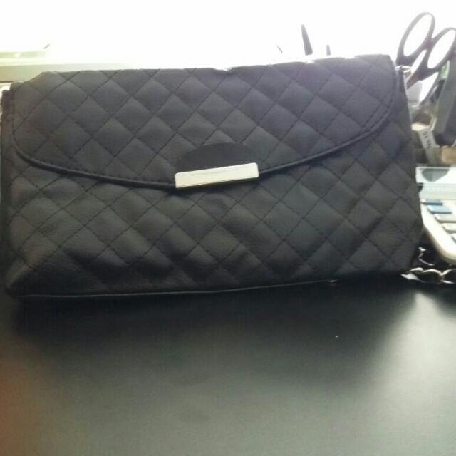 Sling Bag Leather black