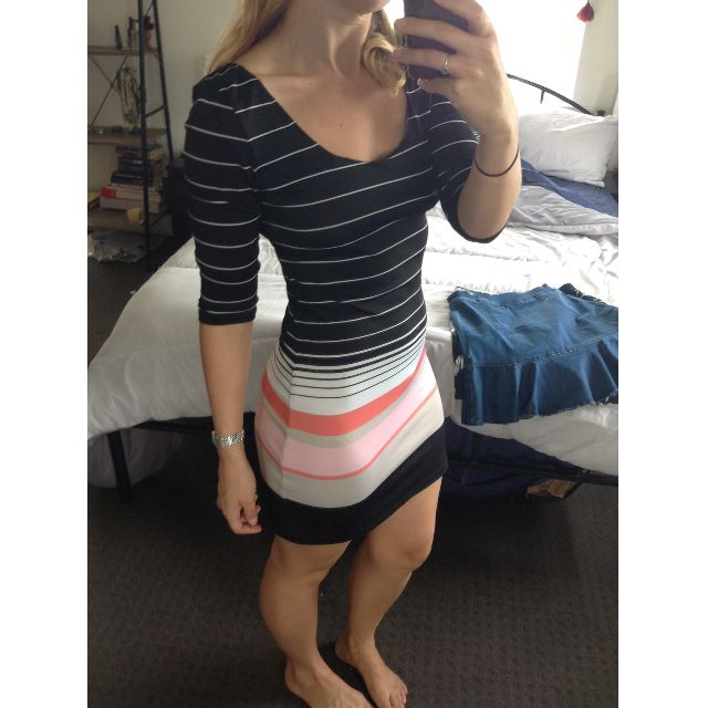 striped venom dress