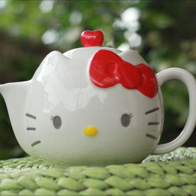 Teapot hello Kitty - Teko Keramik Hello kitty