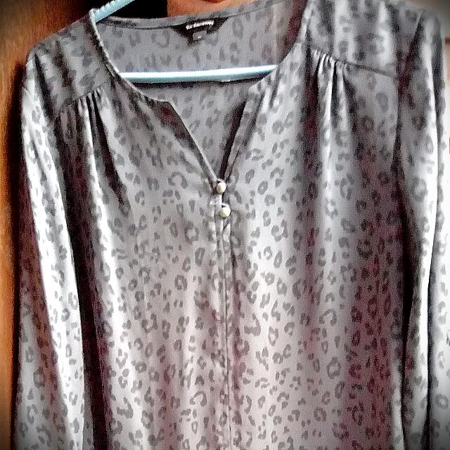 The Executive Leopard Blouse Size M