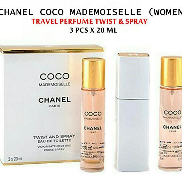 TRAVEL TWIST   SPRAY -Chanel Coco Mademoiselle - 3x20ml 70818696f