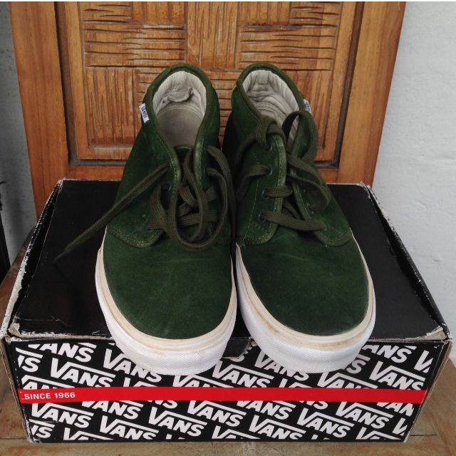 VANS CHUKKA SUPREME GREEN GOLD 100% ORIGINAL
