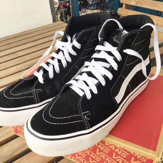 de3ae60296 Vans Shoes Sk8 Hi Lite Suede Canvas Black White