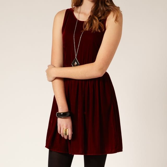 Velvet Red Dress (Glassons)