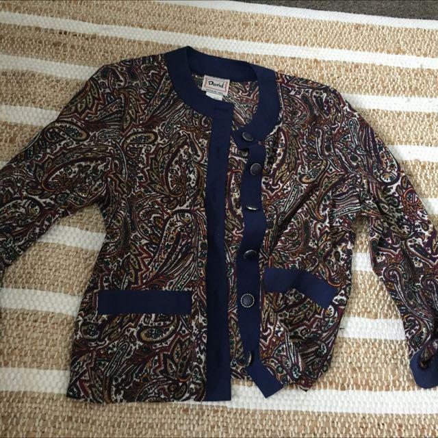 Vintage Silk Feel Jacket