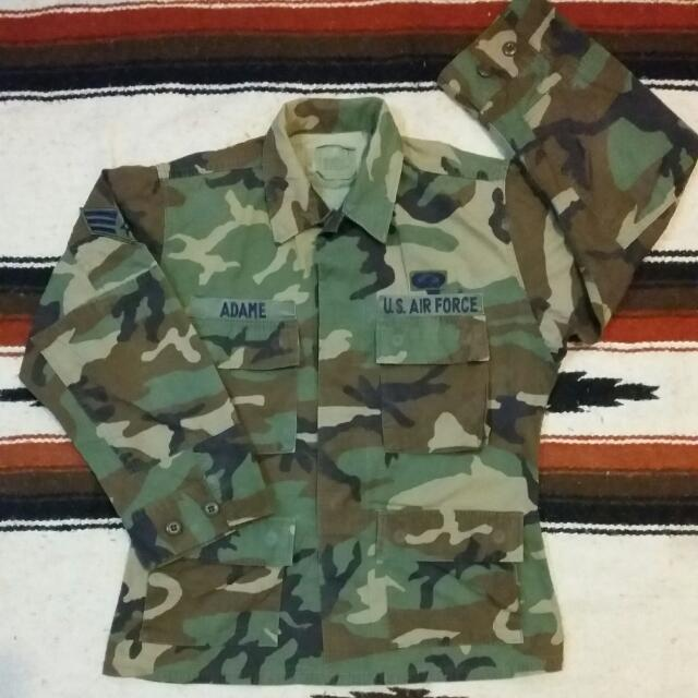 Vintage Uniform Us Army Woodland Camouflage Pattern Combat Dept Us Airforce