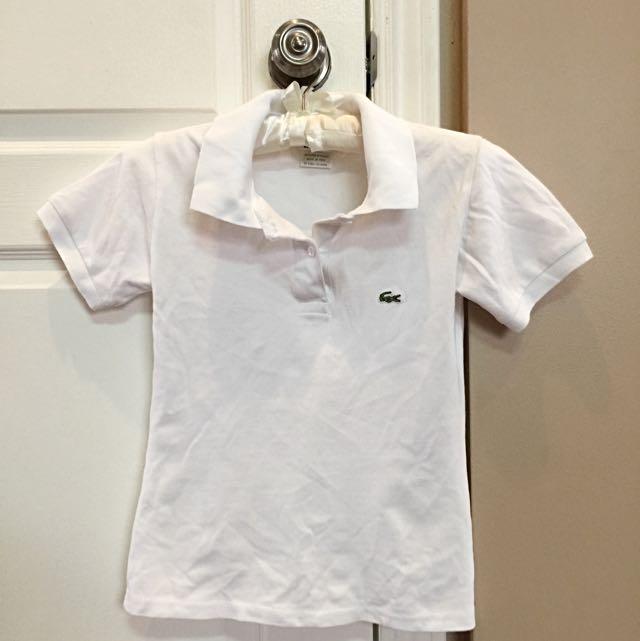 White Lacoste Women's Polo
