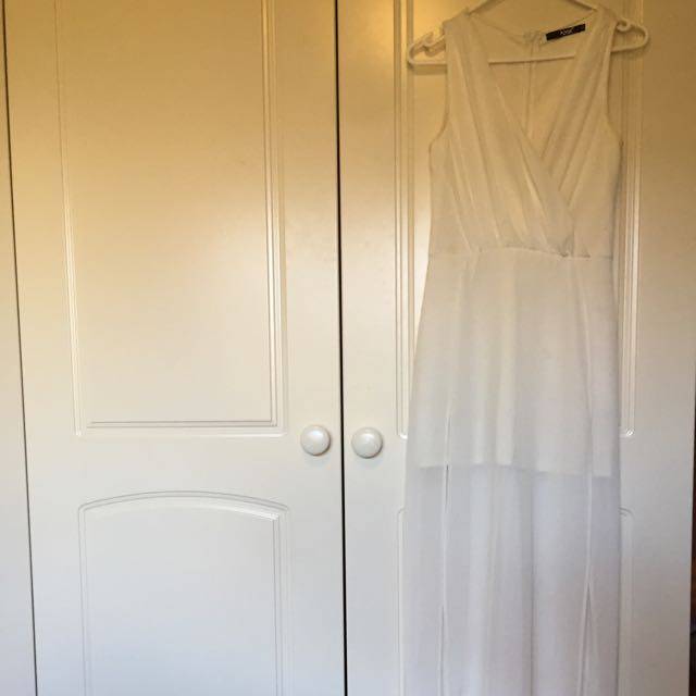 White Maxi Formal Dress