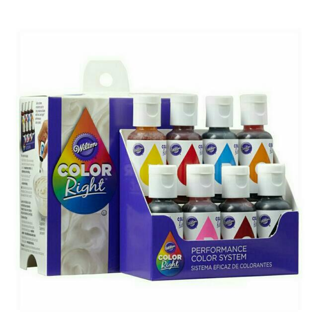 WL105 • Original Wilton Color Right Performance Food Coloring with ...