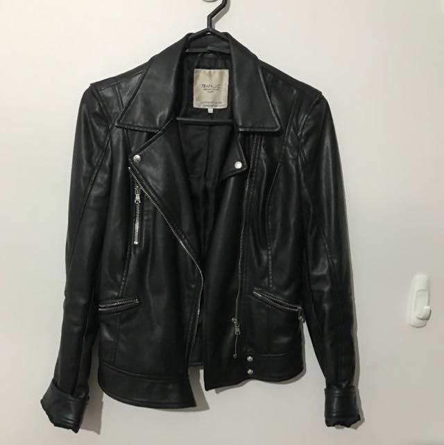 Zara Faux Leather Jacket Size XS
