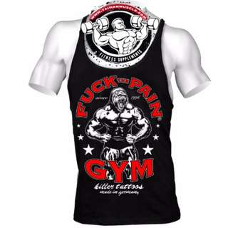Fuck the Pain GYM tank tops 專業運動棉工字背心