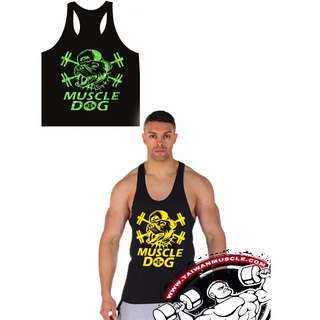 MUSCLE DOG專業工字運動棉背心 Fitness Shirt bodybuilding