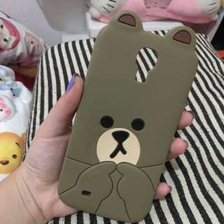 Cashing Brown Jelly Lucu Samsung S4 Only