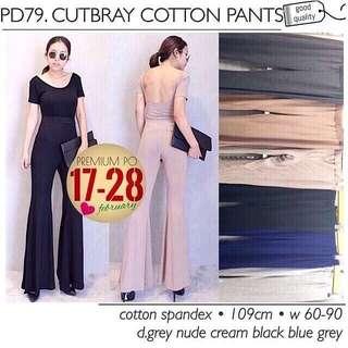 Cutbray Pants