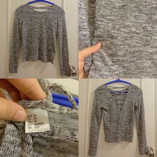H&M fine knitted shirt