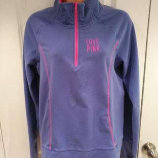 VS Pink Zip Up Shirt, Medium
