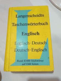 kamus Inggris jerman, jerman inggris
