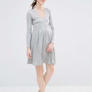 BNWT Gray Maternity Dress