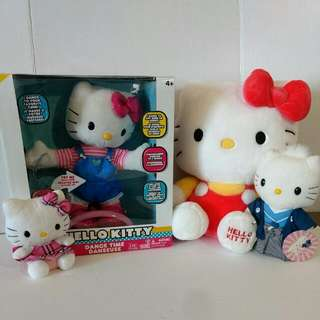Hello Kitty Plush Lot Of 4 w/Dancing Hello Kitty