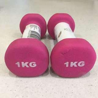 1kg Dumbbell Set Pink