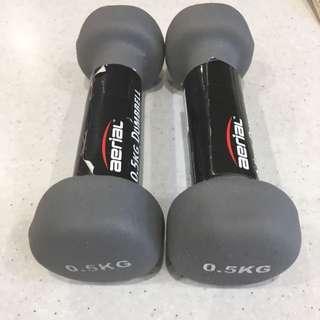 500g / .5kg Dumbbell Set Grey