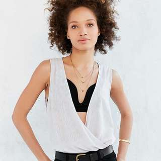 Urban Outfitters (Silence + Noise) - Lavender Plunge Neck Tank Top