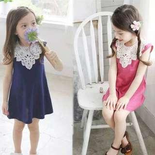 Ready Stock - Kids Gaun / Dresses (Xuan Lace Dress) - Blue @ Clearance Offer!